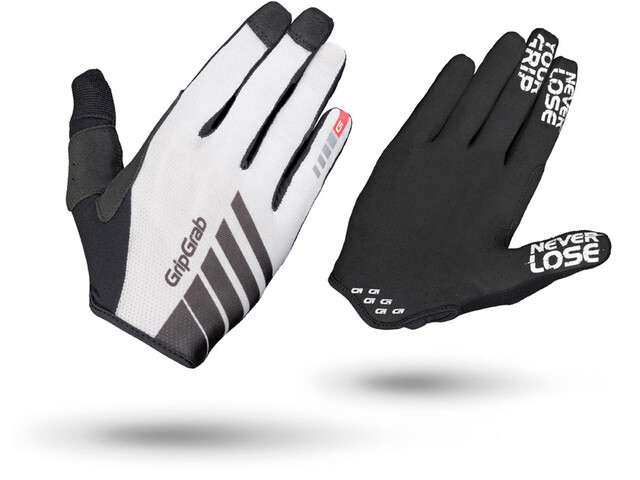GripGrab Racing Long Cycling Gloves White